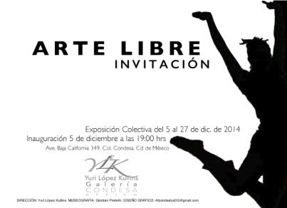 arte libre invitación