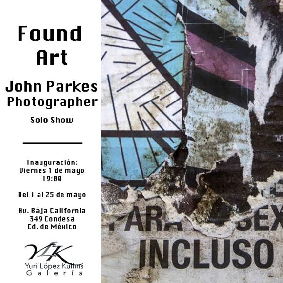 John Parkes Found Art Invitation